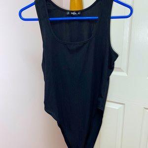 black shein bodysuit